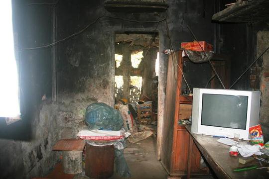 Tầng 2 là nơi ông Hộ nghỉ ngơi, xem ti vi