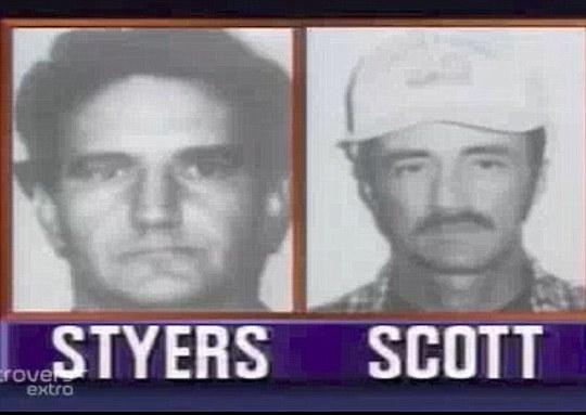 James Styers (trái) cùng đồng phạm Roger Scott (phải). Ảnh: Daily Mail