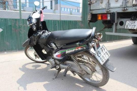 Chiếc xe máy của nạn nhân