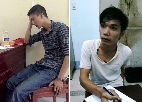 Hai nghi can gây ra thảm sát 6 người Bình Phước, gồm Dương (trái) và Tiến.