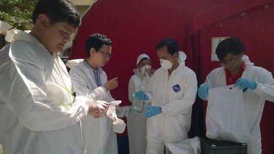 Diễn tập phòng chống bệnh Ebola tại Viện Pasteur TP HCM