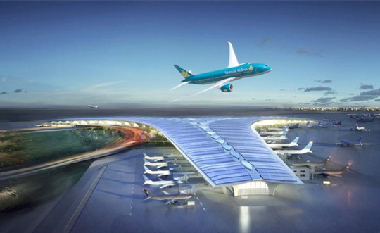 Mô hình sân bay Long Thành.