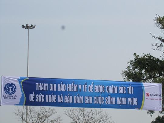 Các băng rôn có hình bản đồ Việt Nam gây phản cảm tại TP Đà Nẵng đã được gỡ bỏ ngay trong chiều 20-1