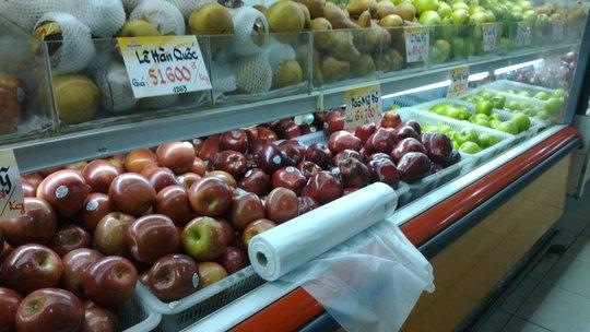 Theo kết quả rà soát của các cơ quan chức năng, Việt Nam chưa nhập sản phẩm táo tươi của Công ty Bidart Bros  Ảnh: NGỌC ÁNH