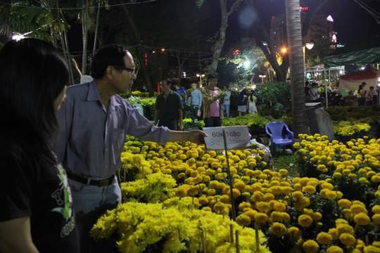 Hoa cúc được giảm giá nhiều nhất tại chợ hoa