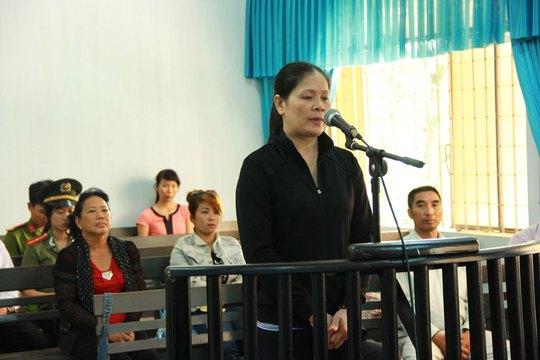 Bị cáo Nguyễn Thị Hằng tại phiên tòa phúc thẩm