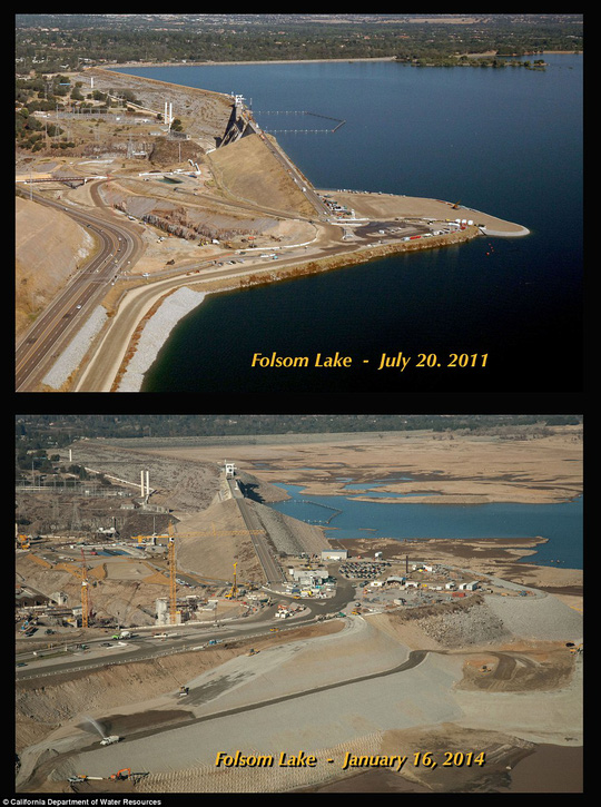 Hồ Folsom. Ảnh: California Department of Water Resources