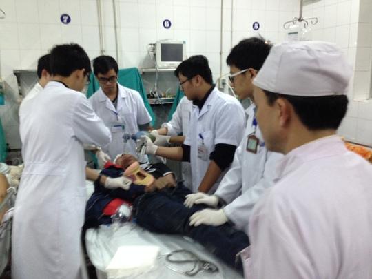Nạn nhân tai nạn giao thông cấp cứu tại Bệnh viện Việt Đức (Hà Nội) những ngày cận Tết Ảnh: Ngọc Dung