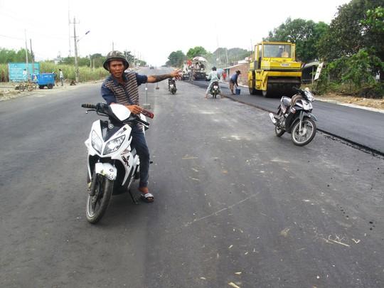 Đoạn đường nơi xảy ra vụ tai nạn làm Huỳnh Xuân Điền tử vong