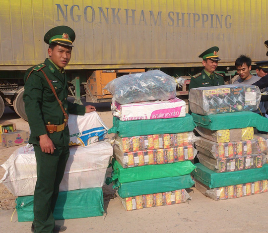 Các lực lượng chức năng đã thu giữ toàn bộ tang vật là 382 kg pháo lậu các loại