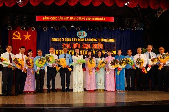 Ban Chấp hành Đảng bộ Cơ quan LĐLĐ TP nhiệm kỳ 2015-2020 ra mắt đại hội