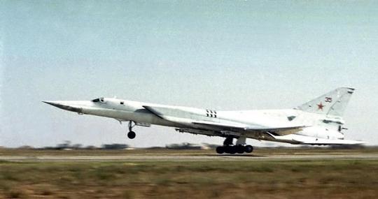 Máy bay chiến lược ném bom siêu thanh tầm xa Tu-22M3. Ảnh: AP