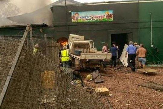 Đám cháy nhanh chóng được dập tắt. Ảnh: Channel 7 News