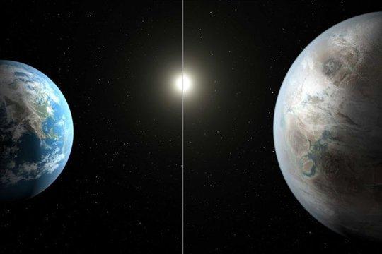 Trái đất (trái) và hành tinh song sinh