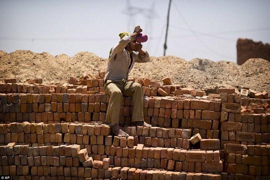 Người dân tìm đủ mọi cách để tránh nóng. Ảnh: AP, Reuters, EPA