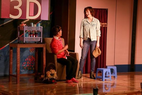 Lan Phương và Minh Nhí trong vở diễn