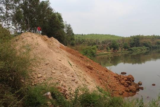 Đoạn sông Đồng Nai bị lấp thuộc xã Tân An, huyện Vĩnh Cửu, tỉnh Đồng Nai