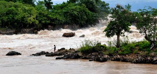 Khu vực dự kiến xây dựng thủy điện Don Sahong Ảnh: TỔ CHỨC SÔNG NGÒI QUỐC TẾ