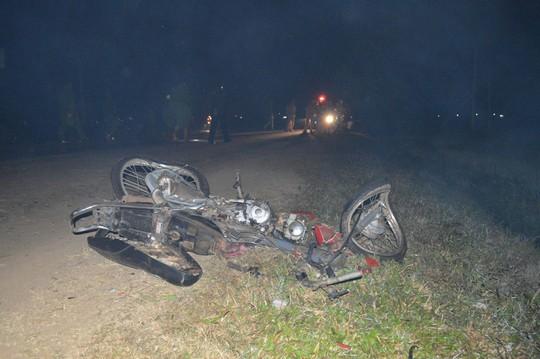 Hiện trường vụ tai nạn giao thông trên Quốc lộ 26 ở Đắk Lắk làm 3 người tử nạn vào ngày 30-1 Ảnh: CAO NGUYÊN
