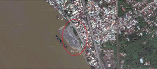 Dự án lấn sông Đồng Nai làm khu đô thị chụp từ trên cao Nguồn: GOOGLE MAP