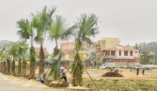 Khu công viên văn hóa mà ông Phan Hải đang xây dựng cho xã Hải Trạch, huyện Bố Trạch, tỉnh Quảng Bình