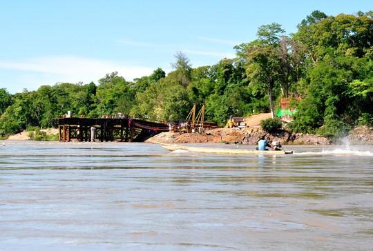 Khu vực dự kiến xây dựng thủy điện Don Sahong