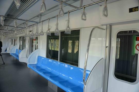 Mô hình tàu metro sẽ được trưng bày để các sở - ngành, nhà khoa học và người dân tham quan Ảnh: Hải Liên