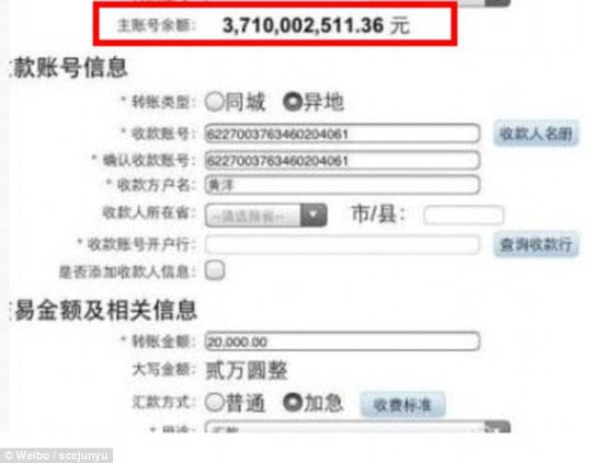 """Màn """"khoe hàng"""" đáp trả của thiếu gia họ Chen. Ảnh: Weibo"""