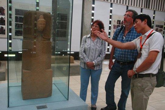 Bảo vật Mukhalinga tại Nhà Trưng bày hiện vật Mỹ Sơn