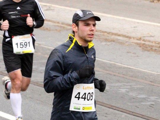 Andreas Lubitz trong một cuộc thi chạy Nguồn: AP