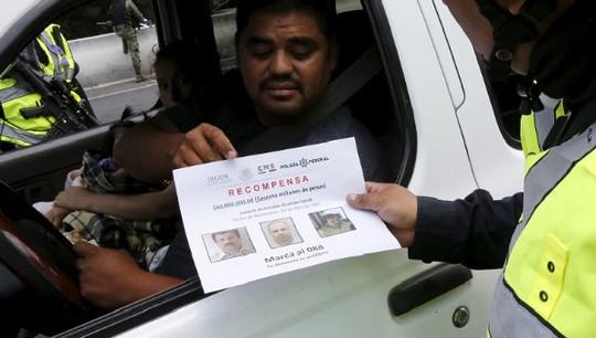 Hàng triệu tờ rơi được phân phát cho dân chúng Mexico trong nỗ lực tìm bắt El Chapo Ảnh: REUTERS