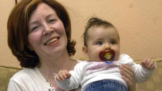 Bà Annegret Raunigk và con gái vào năm 2005