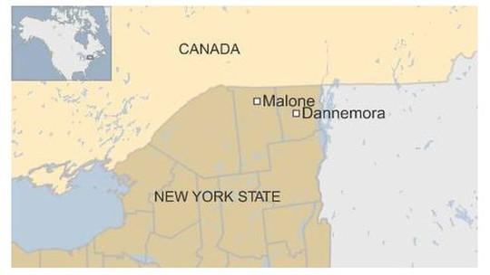 Thị trấn Malone gần biên giới Canada- nơi tên Matt bị phát hiện. Ảnh: BBC