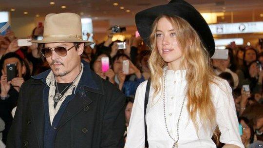 Vợ chồng tài tử Johnny Depp