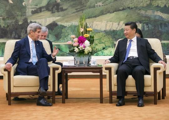 Ngoại trưởng Mỹ gặp Chủ tịch Tập Cận Bình. Ảnh: AP