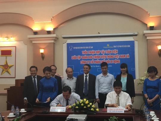 Lễ ký kết giữa VNPT với Thế Giới Di Độngv
