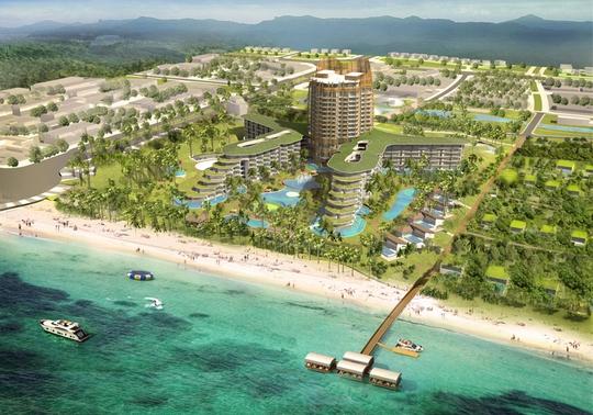 Phối cảnh dự án Intercontinental Resort Phú Quốc