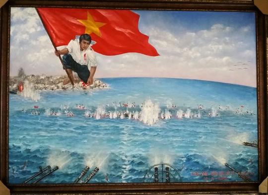 """Bức tranh """"Gạc Ma - Vòng tròn bất tử"""" của họa sĩ Bùi Lệ Trang"""