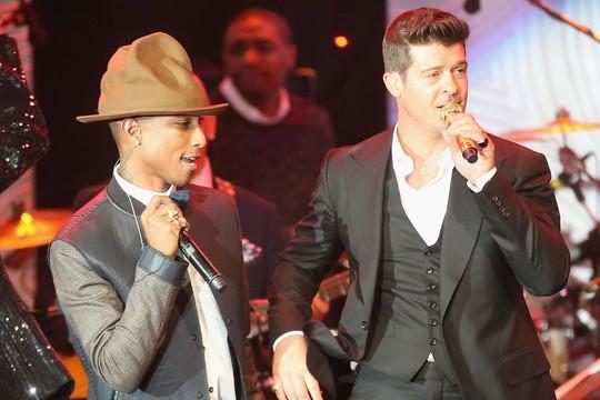 Pharrell Williams và Robin Thicke phải bồi thường 7,4 triệu USD vì đạo nhạc Ảnh: REUTERS
