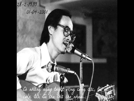 Thành lập quỹ học bổng về âm nhạc là ước mơ của nhạc sĩ Trịnh Công Sơn lúc sinh thời Ảnh: TƯ LIỆU