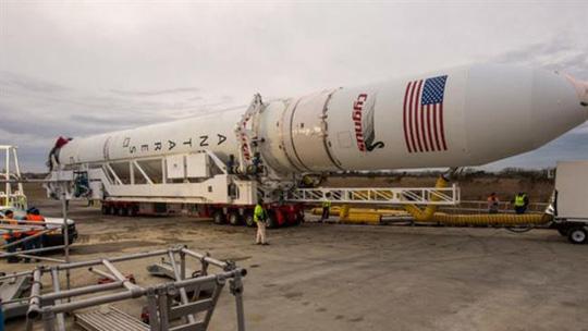Tên lửa đẩy Antares của Orbital Sciences chụp tại cơ sở phóng tên lửa của NASA hồi tháng 1-2014. Ảnh: PressTV