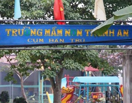 Trường mần non Thanh An nơi bé Phương Anh tử vong. Ảnh: Phúc Cảnh