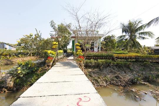 Những cổng chào của các hộ nhà vườn ở Sa Nhiên