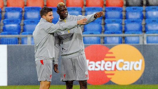 Balotelli và đồng đội Borini