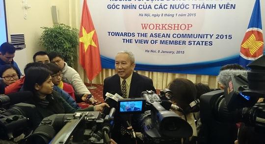Đại sứ Nguyễn Vũ Tú, Trưởng SOM ASEAN Việt Nam, trả lời báo chí