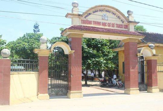 Trường THCS Thạch Kim - nơi thu tiền xây dựng trường chuẩn quốc gia vào cuối năm học