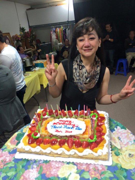Mừng sinh nhật trên xứ người, NSƯT Thanh Thanh Tâm rất xúc động