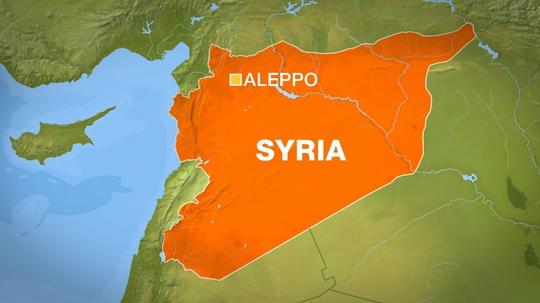 Thành phố Aleppo, nơi vừa bị Chính phủ Syria thả bom thùng