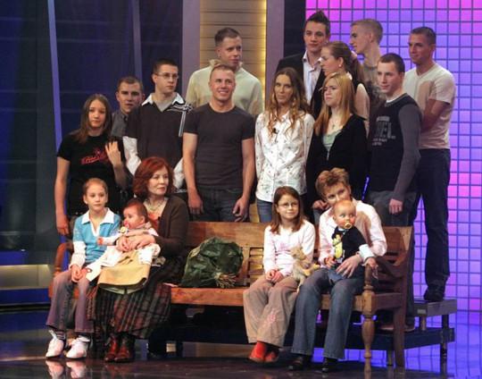 Đại gia đình của và Annegret Raunigk trước khi sinh em bé