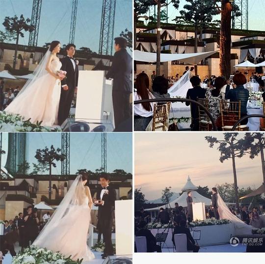 Bắt đầu nghi thức đám cưới